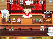 Serveuse dans Restaurant de Sushis
