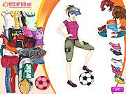 Joueuse de Foot et de Tennis