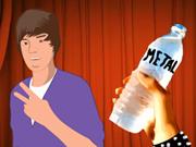 Lance une bouteille sur Justin Bieber