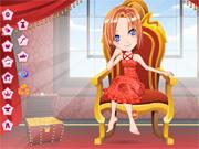 Princesse sur son tr�ne